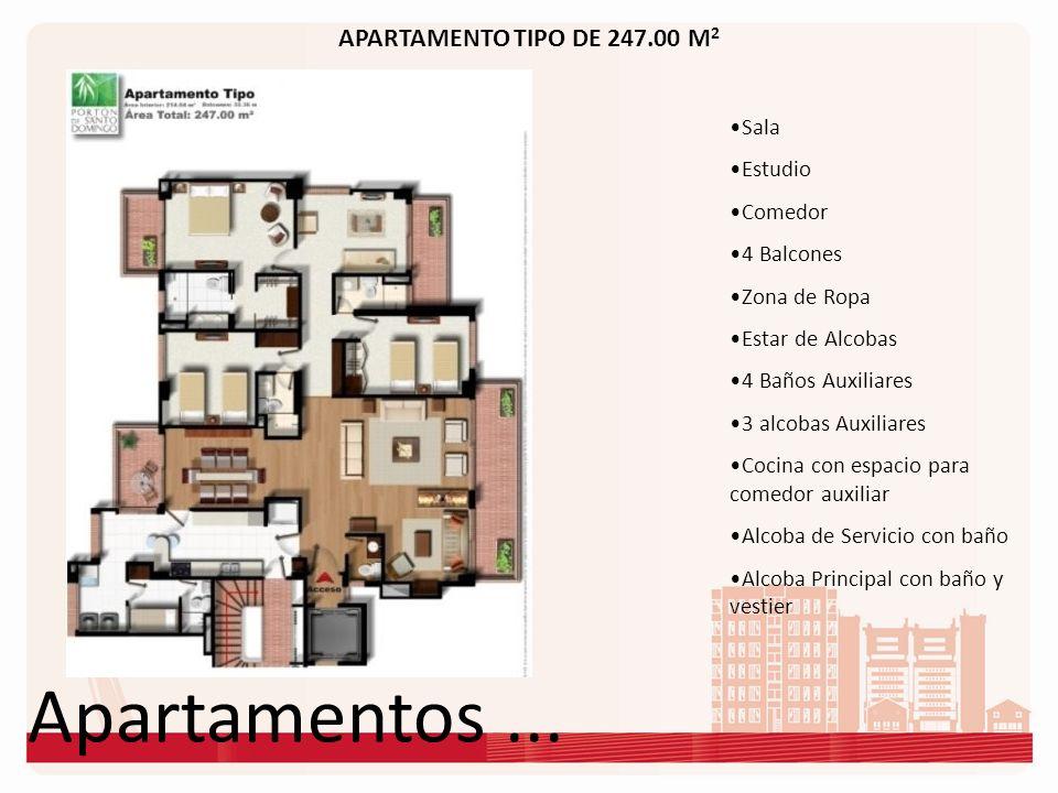 Apartamentos ... APARTAMENTO TIPO DE 247.00 M2 Sala Estudio Comedor