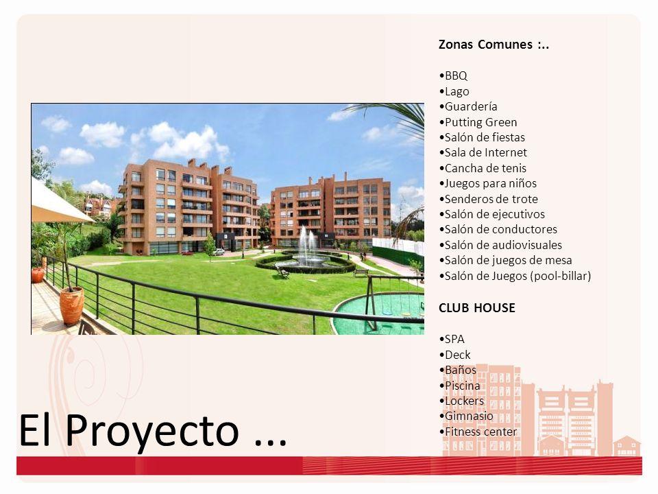 El Proyecto ... Zonas Comunes :.. CLUB HOUSE BBQ Lago Guardería