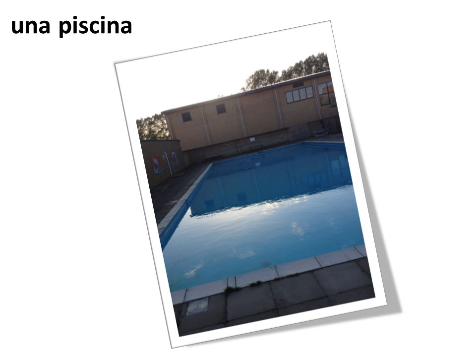 una piscina