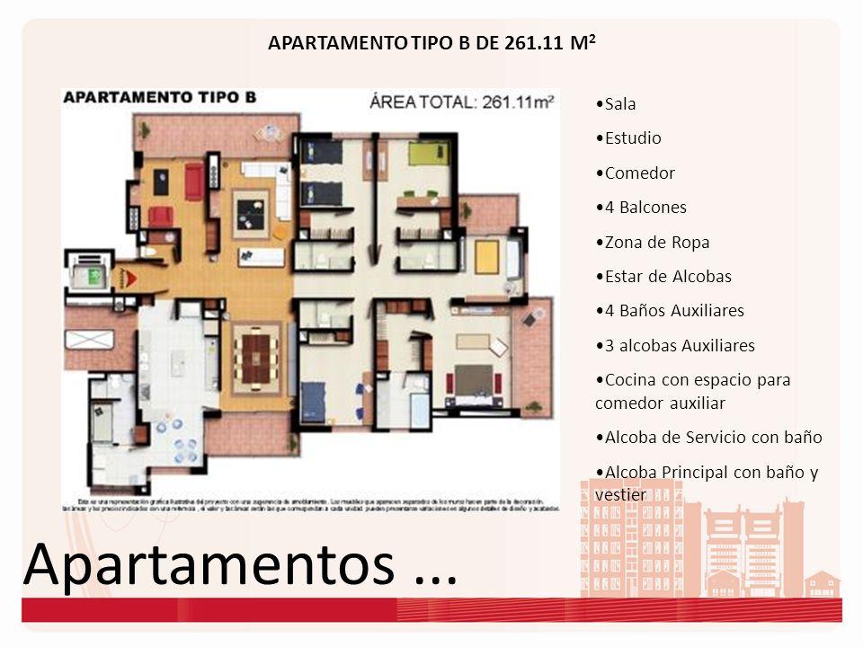 Apartamentos ... APARTAMENTO TIPO B DE 261.11 M2 Sala Estudio Comedor