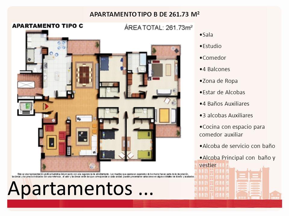 Apartamentos ... APARTAMENTO TIPO B DE 261.73 M2 Sala Estudio Comedor