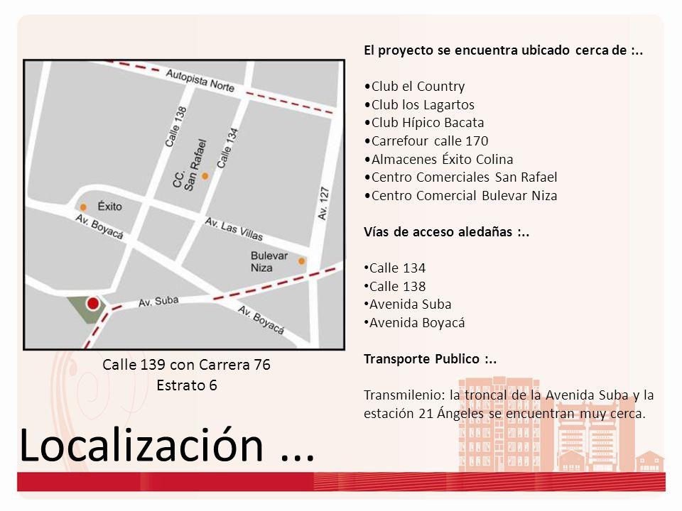 Localización ... Calle 139 con Carrera 76 Estrato 6