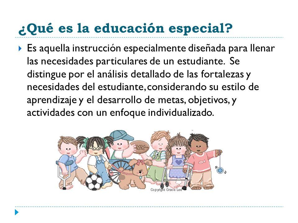 ¿Qué es la educación especial