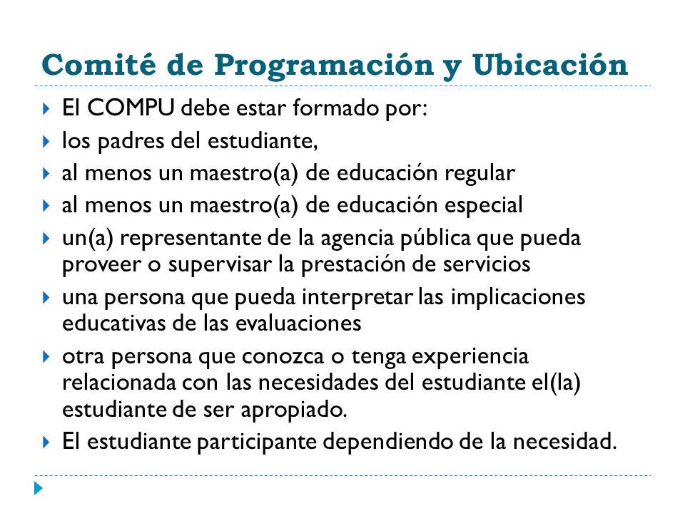 Comité de Programación y Ubicación