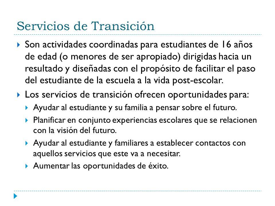 Servicios de Transición