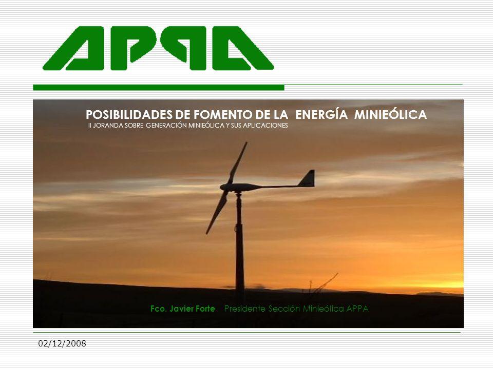 POSIBILIDADES DE FOMENTO DE LA ENERGÍA MINIEÓLICA