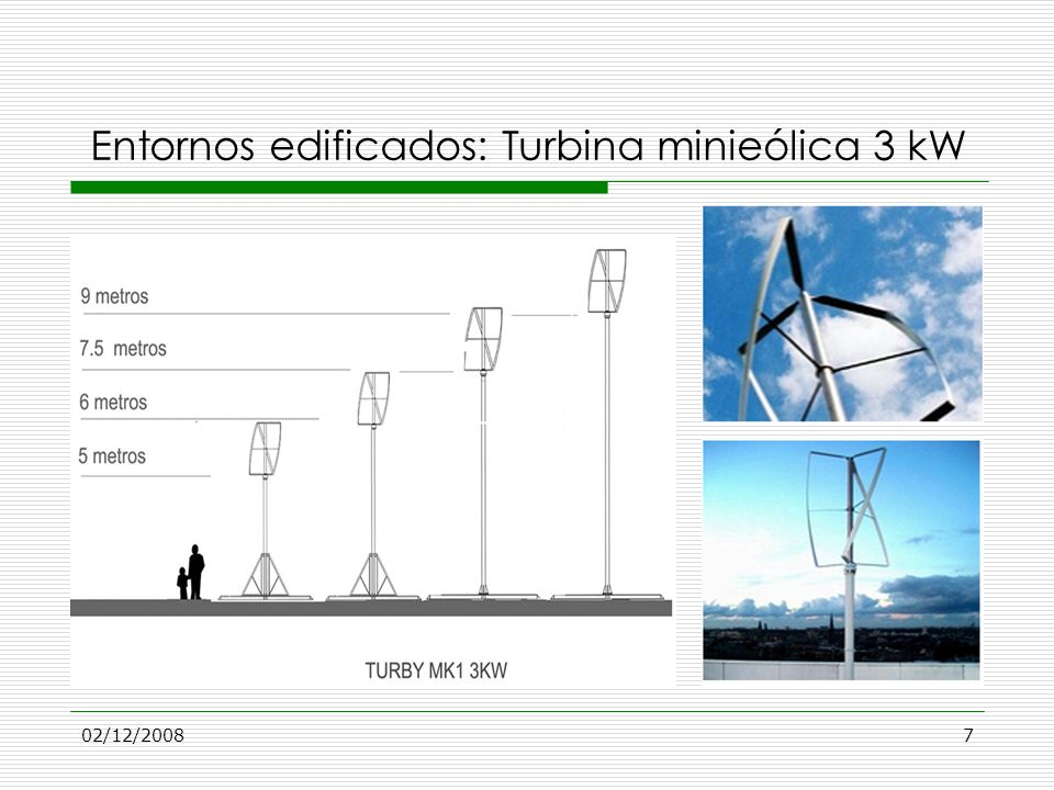 Entornos edificados: Turbina minieólica 3 kW