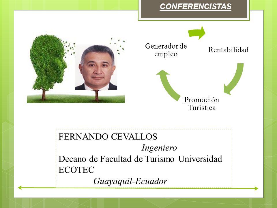 Decano de Facultad de Turismo Universidad ECOTEC Guayaquil-Ecuador