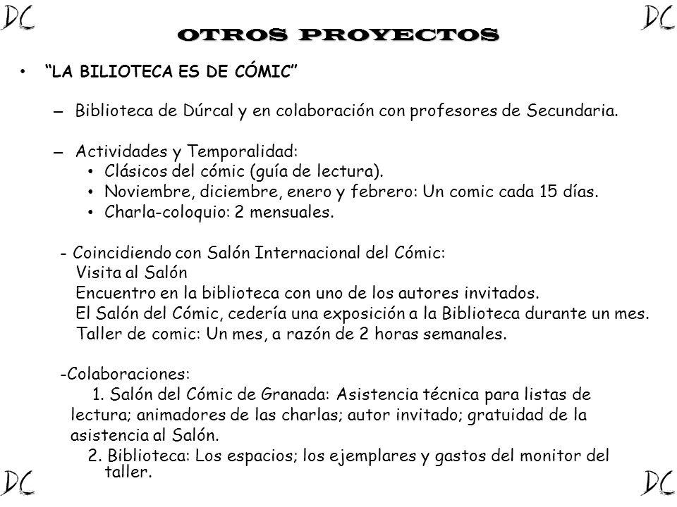 Biblioteca de Dúrcal y en colaboración con profesores de Secundaria.