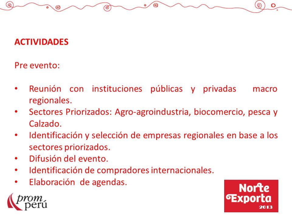 Reunión con instituciones públicas y privadas macro regionales.