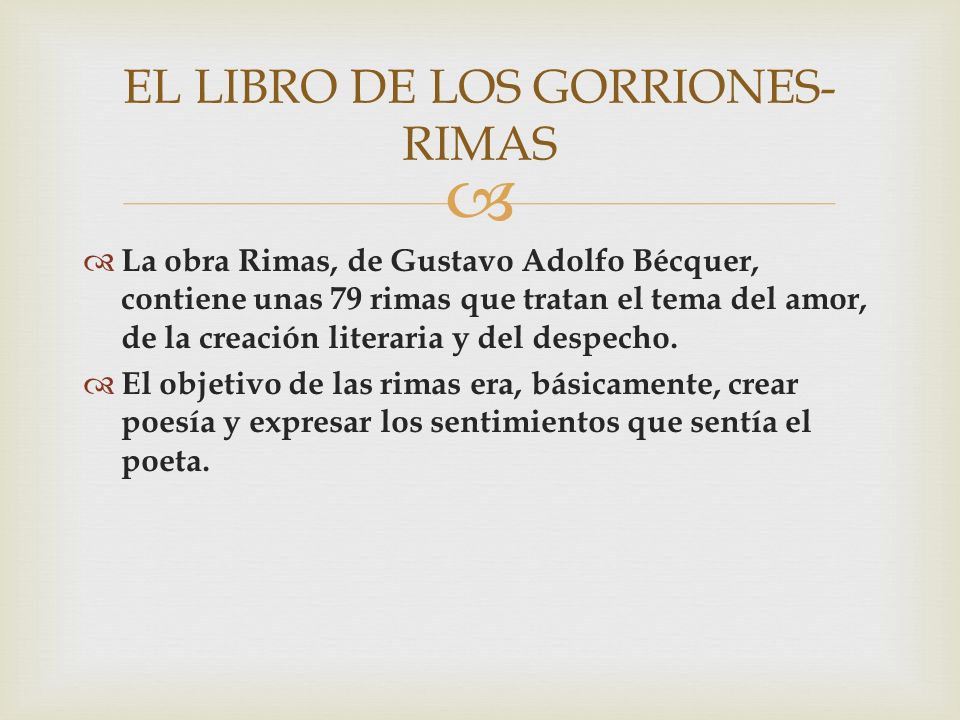 EL LIBRO DE LOS GORRIONES- RIMAS