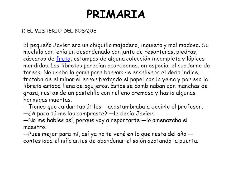 PRIMARIA español e inglés