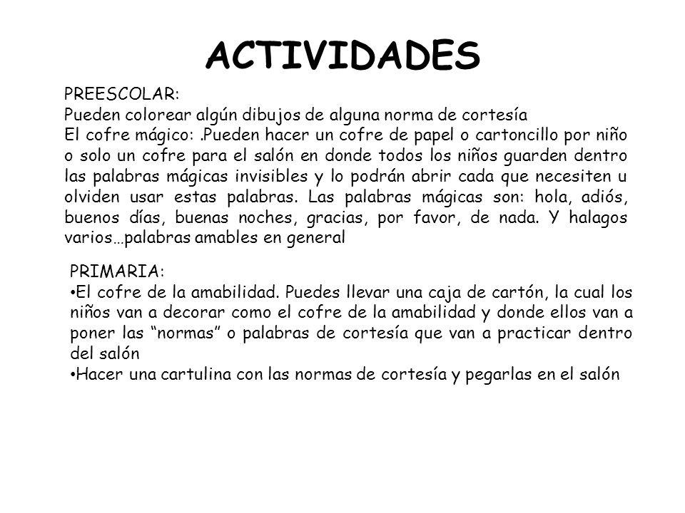 ACTIVIDADES PREESCOLAR: