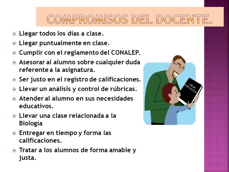 Compromisos del docente.
