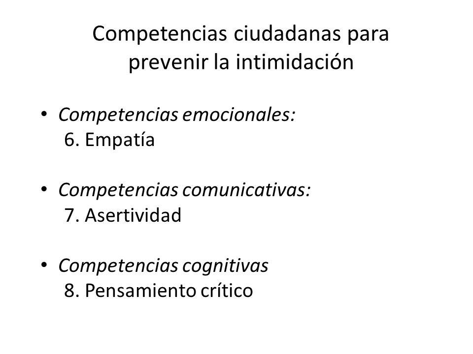Competencias ciudadanas para prevenir la intimidación