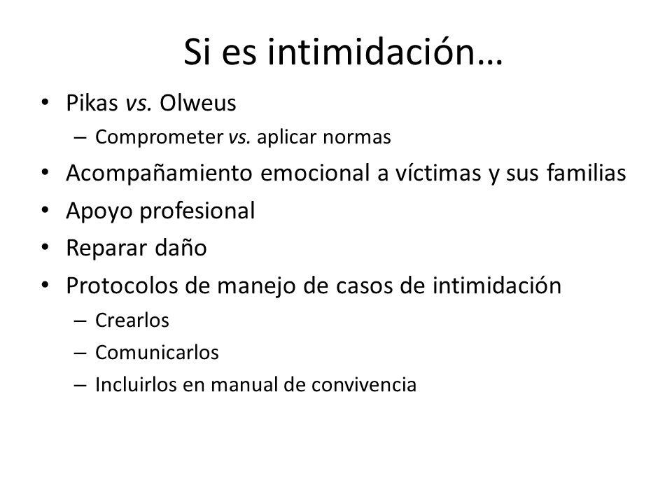 Si es intimidación… Pikas vs. Olweus