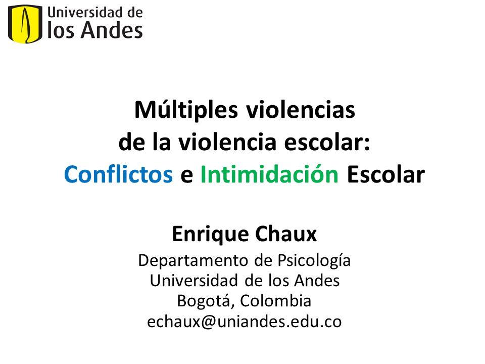 de la violencia escolar: Conflictos e Intimidación Escolar
