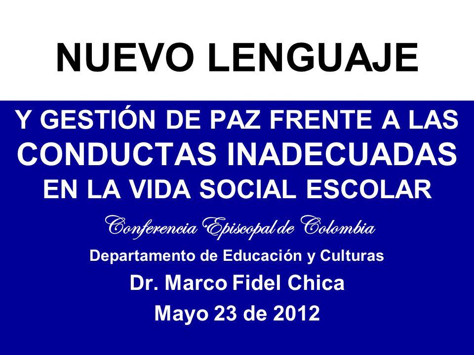 Conferencia Episcopal de Colombia Departamento de Educación y Culturas