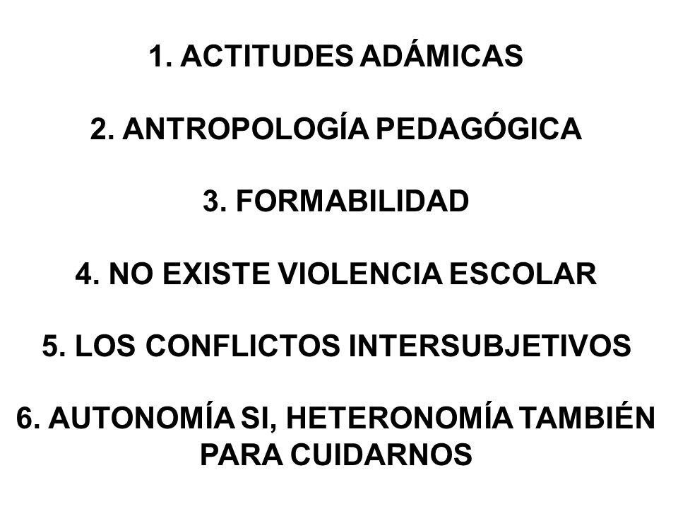2. ANTROPOLOGÍA PEDAGÓGICA 3. FORMABILIDAD