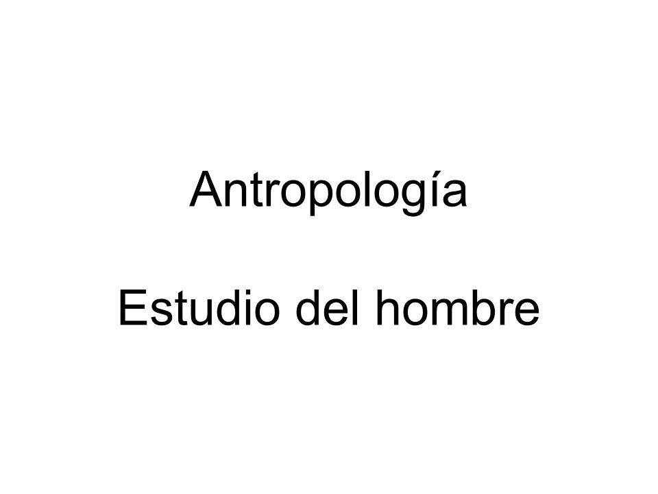 Antropología Estudio del hombre