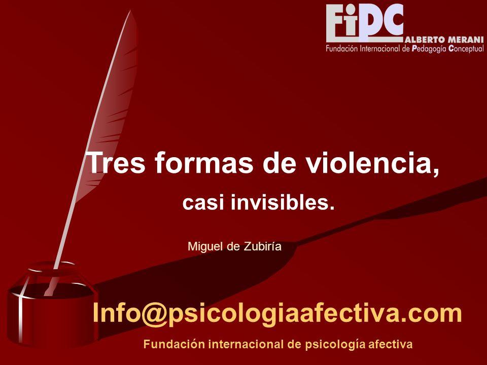 Tres formas de violencia,