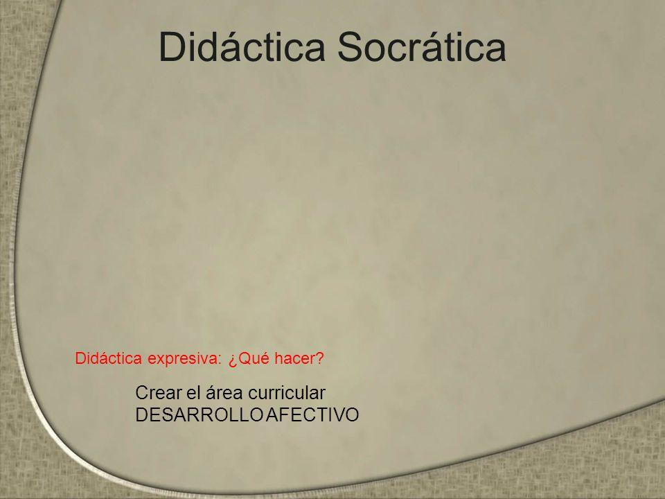 Didáctica Socrática Crear el área curricular DESARROLLO AFECTIVO