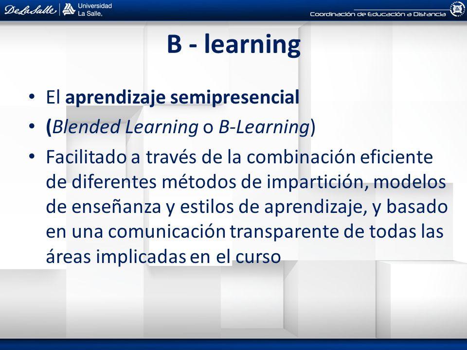 B - learning El aprendizaje semipresencial
