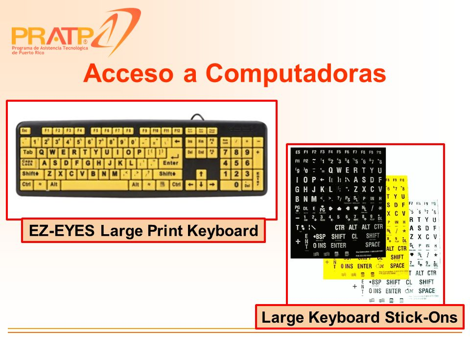EZ-EYES Large Print Keyboard Large Keyboard Stick-Ons