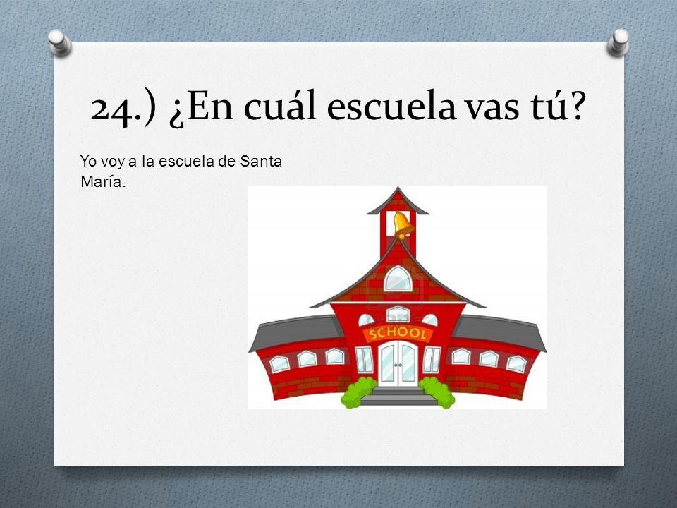 24.) ¿En cuál escuela vas tú