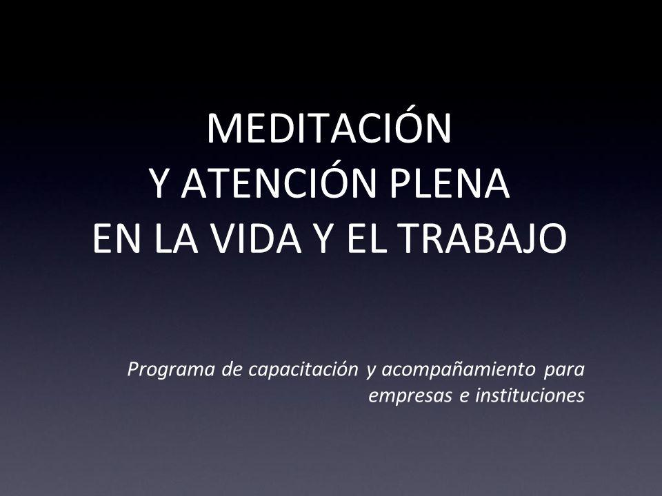 MEDITACIÓN Y ATENCIÓN PLENA EN LA VIDA Y EL TRABAJO