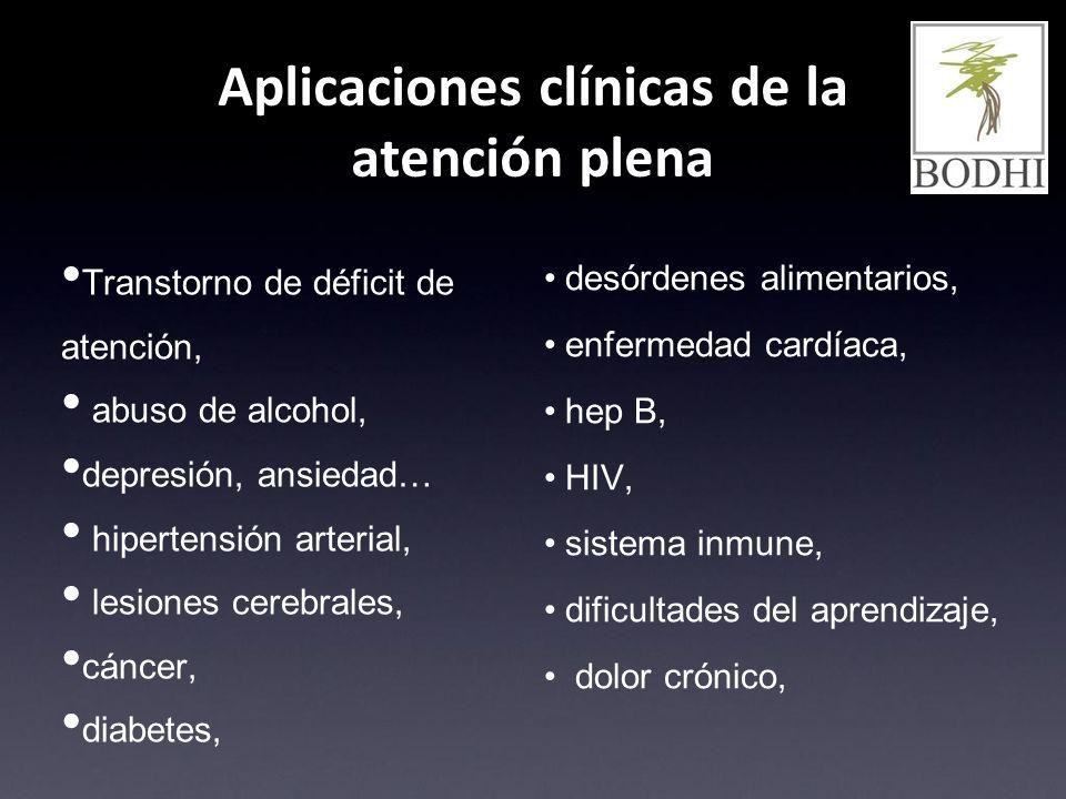 Aplicaciones clínicas de la atención plena