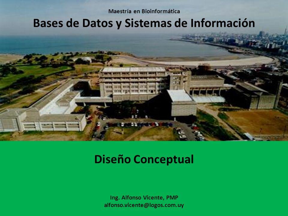 Maestría en Bioinformática Bases de Datos y Sistemas de Información Diseño Conceptual Ing.