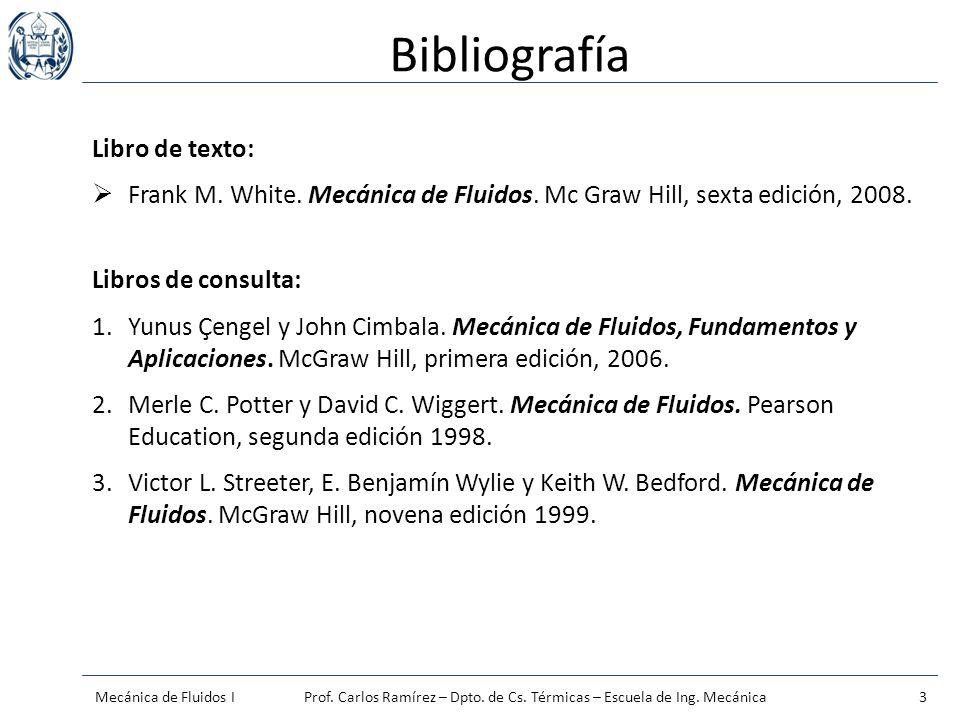 Bibliografía Libro de texto: