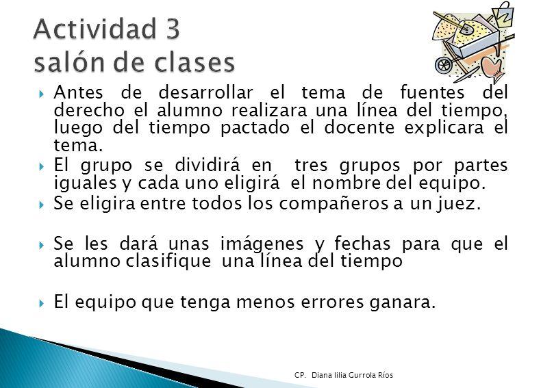 Actividad 3 salón de clases