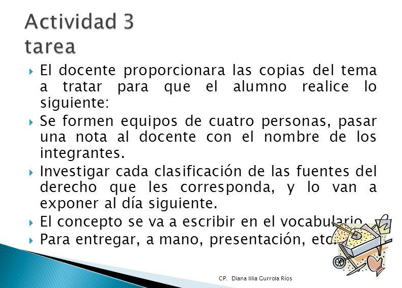 Actividad 3 tarea El docente proporcionara las copias del tema a tratar para que el alumno realice lo siguiente: