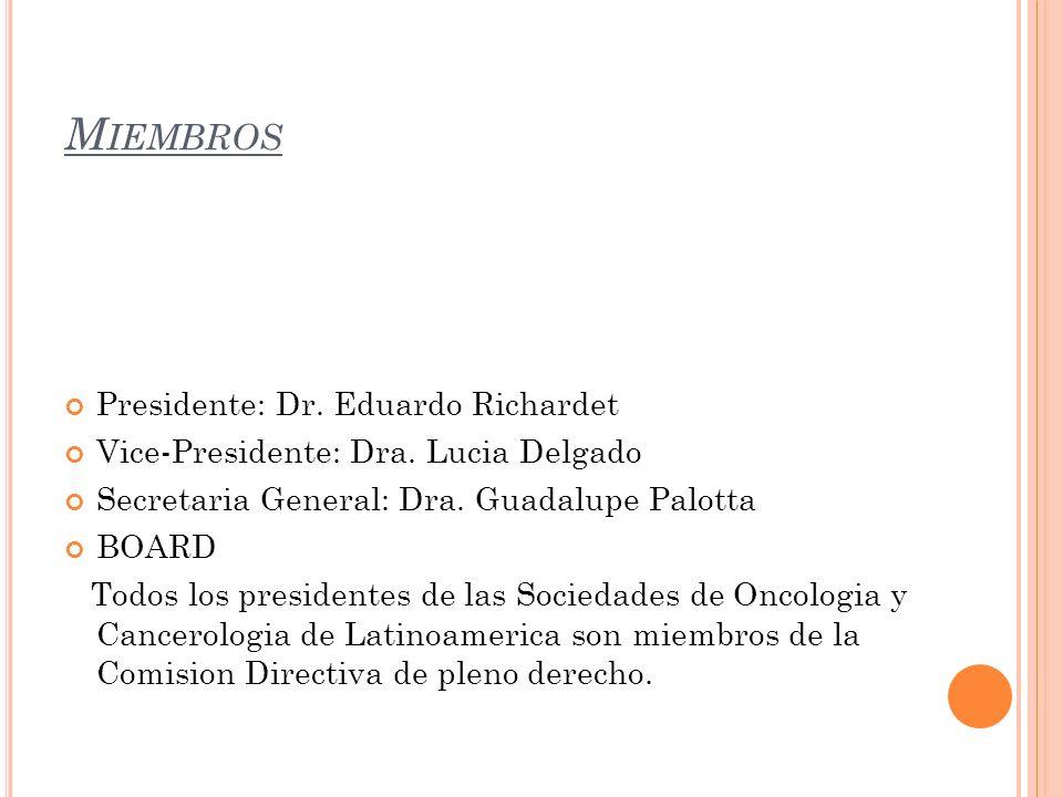 Miembros Presidente: Dr. Eduardo Richardet