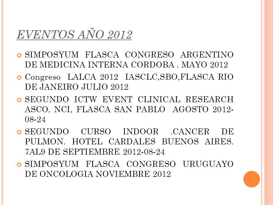 EVENTOS AÑO 2012 SIMPOSYUM FLASCA CONGRESO ARGENTINO DE MEDICINA INTERNA CORDOBA . MAYO 2012.