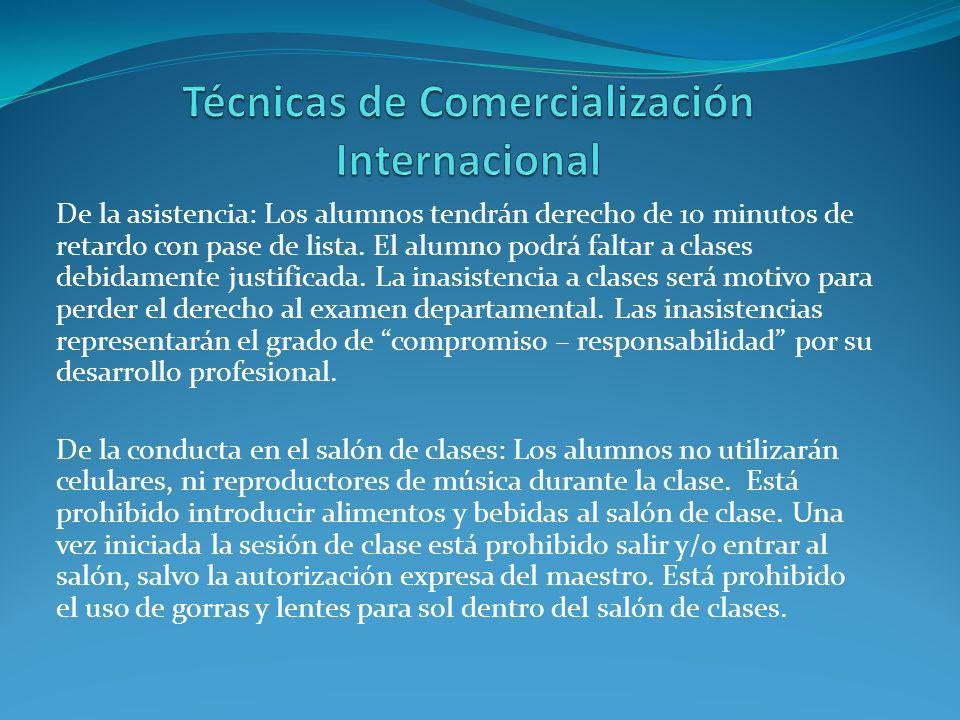 Técnicas de Comercialización Internacional