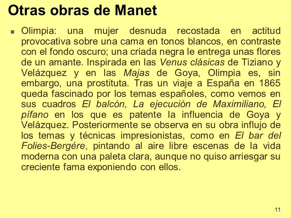 Otras obras de Manet