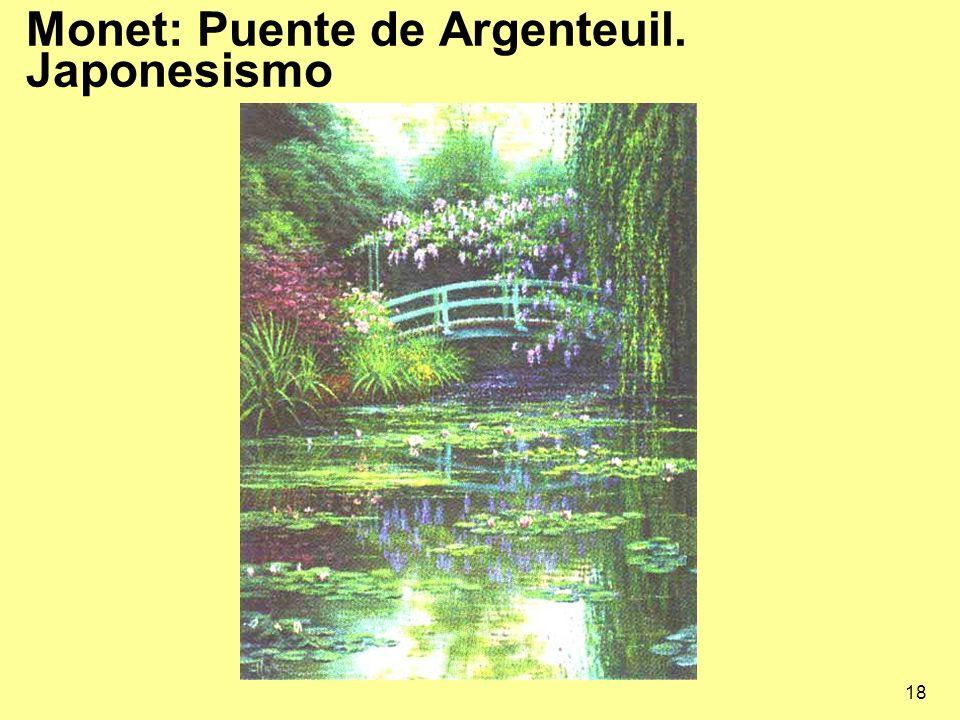 Monet: Puente de Argenteuil. Japonesismo