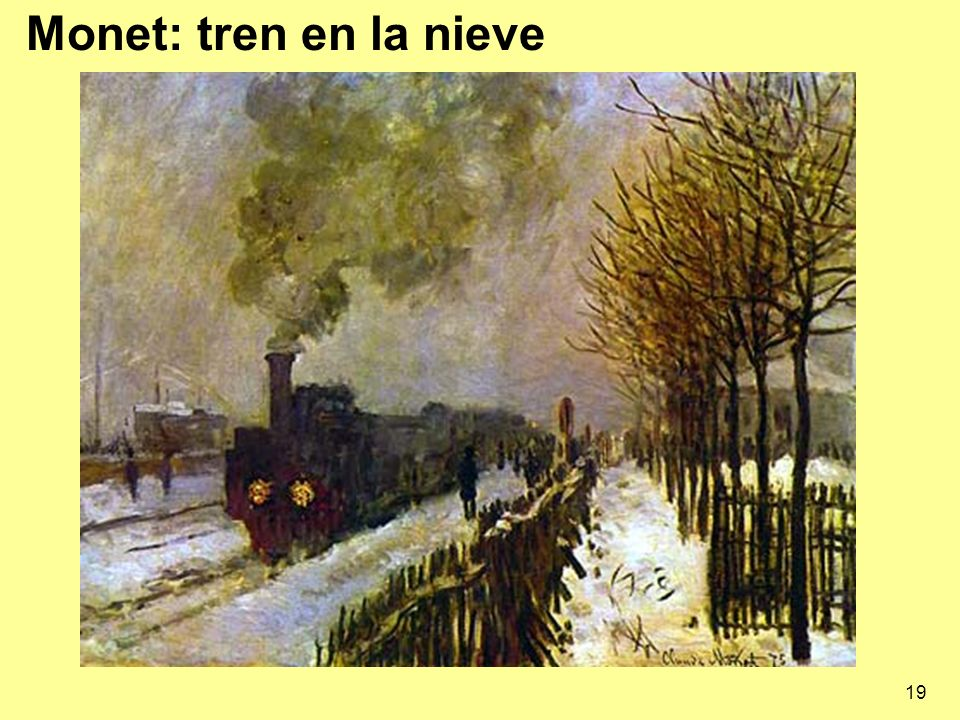 Monet: tren en la nieve