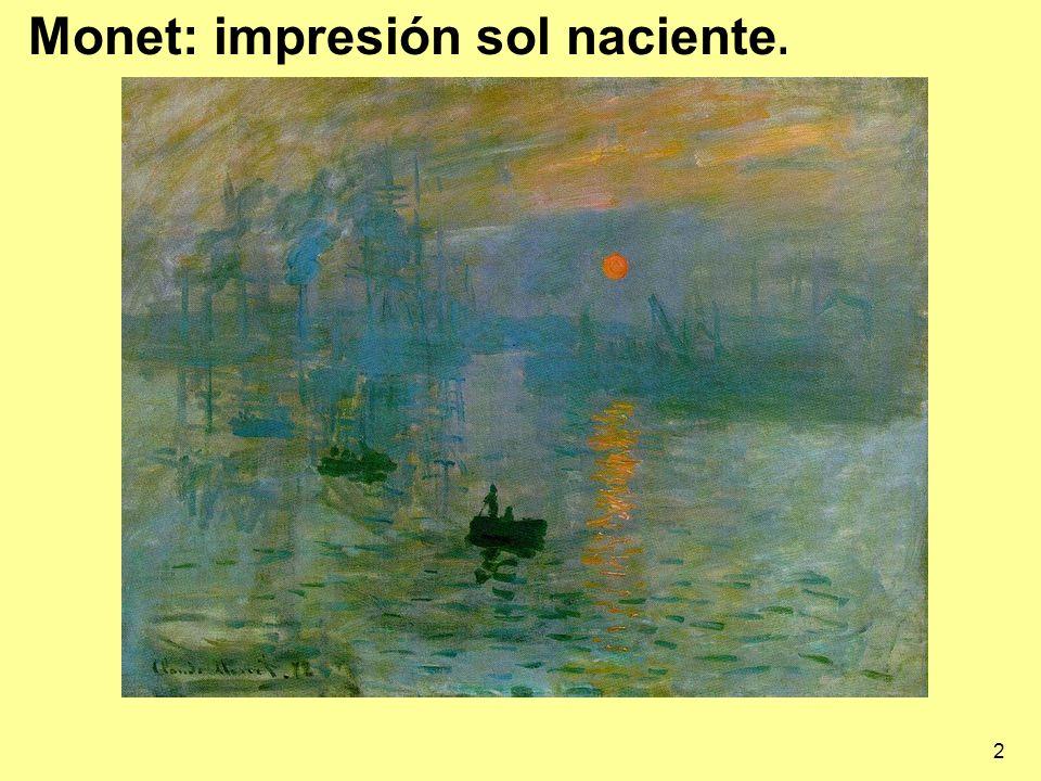 Monet: impresión sol naciente.