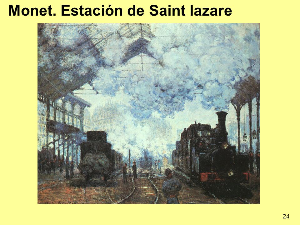 Monet. Estación de Saint lazare