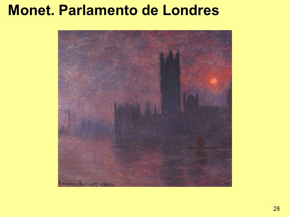 Monet. Parlamento de Londres