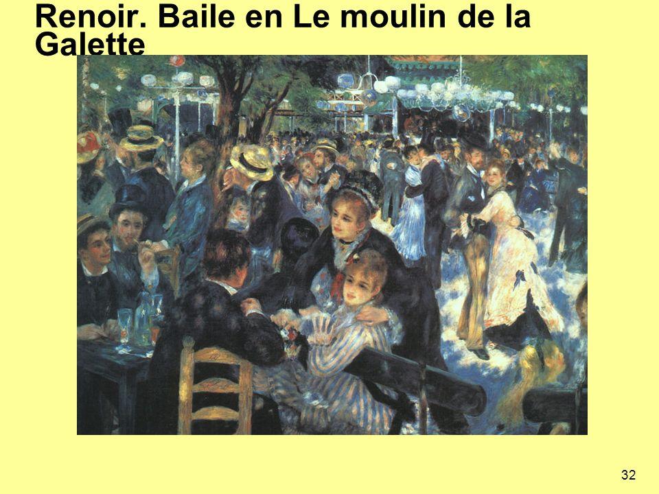 Renoir. Baile en Le moulin de la Galette