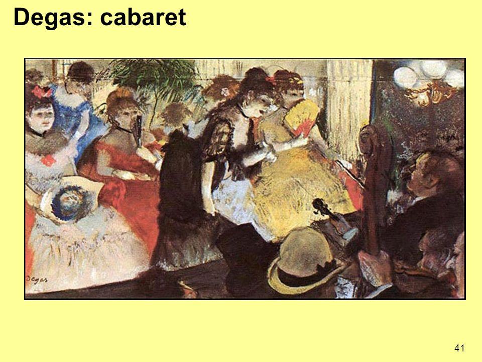 Degas: cabaret