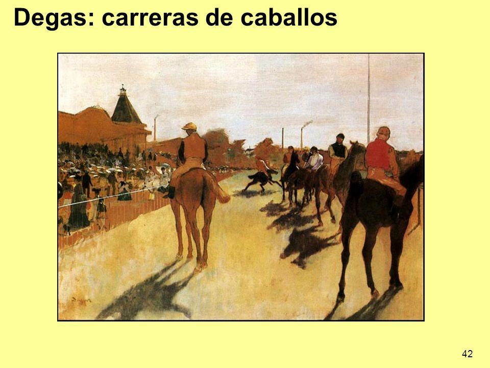 Degas: carreras de caballos