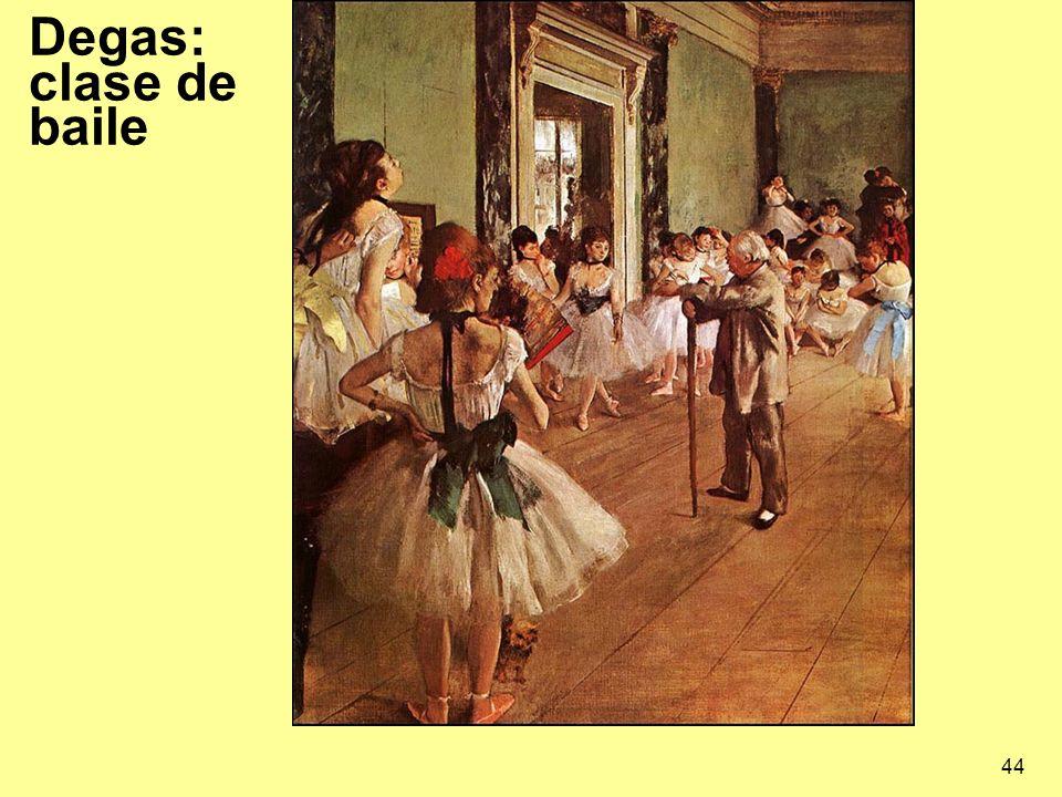 Degas: clase de baile