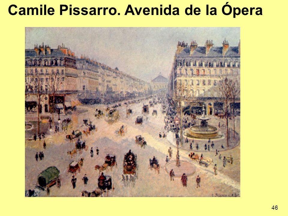 Camile Pissarro. Avenida de la Ópera