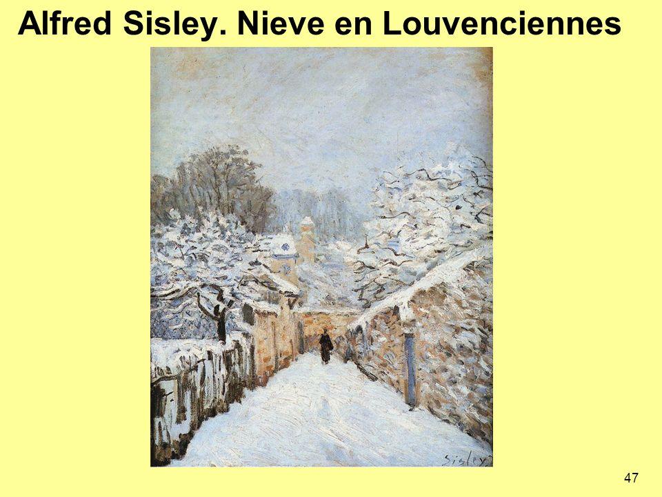 Alfred Sisley. Nieve en Louvenciennes